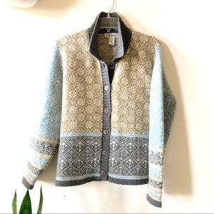 L.L. Bean Nordic wool cardigan
